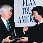 Senator Chris Dodd (D) with Sr Mary Turley, Flax Trust