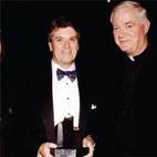 Jack Quinn, Quinn Gillespie Associates LLC, with Fr Myles Kavanagh CP, Chairman Flax Trust