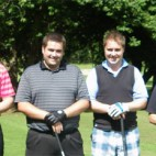 The Winning squad ORTUS about to tee off 142x142 Flax Trust Rose Bowl 2013
