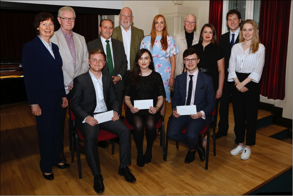 Group Photo The Flax Trust Music Bursaries at Queen's University, Harty Room Belfast, June 26th, 2019